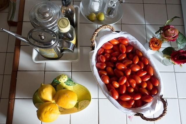 tomate huile et citron