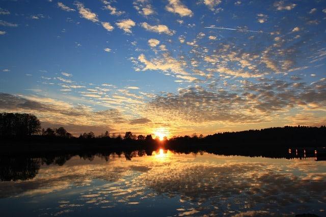 paysage, coucher de soleil