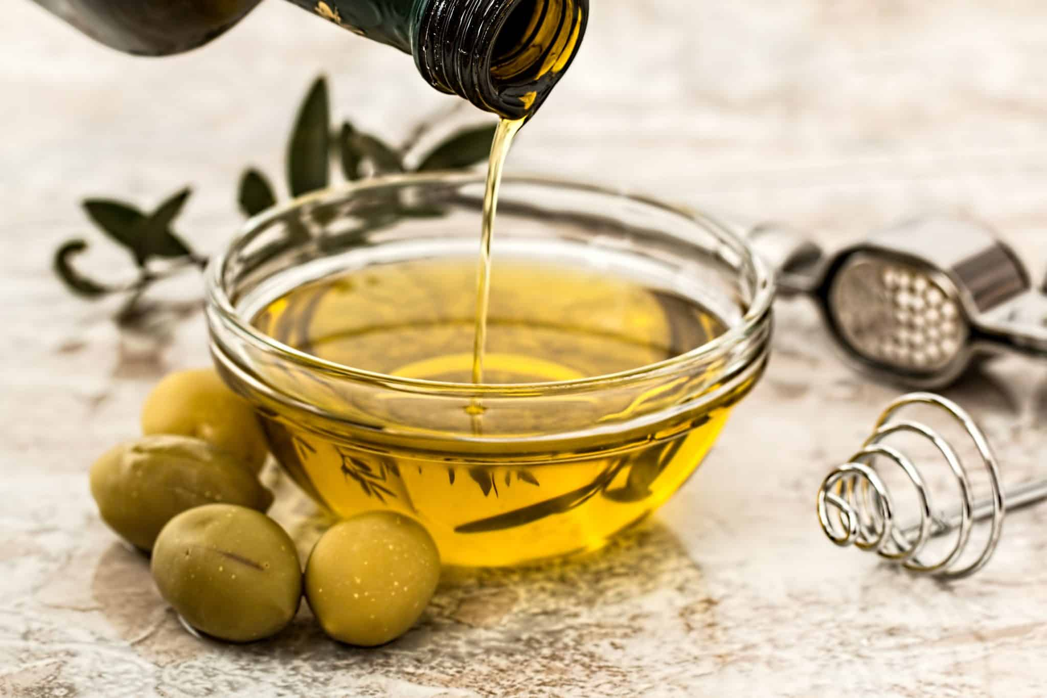 huile d'olive, olives