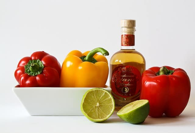 légumes, huile, lime